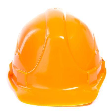 hard worker: Cappello rigido. Isoalted su fondo bianco. Archivio Fotografico