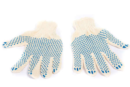 Pair of working gloves on white background Stock Photo - 6833387