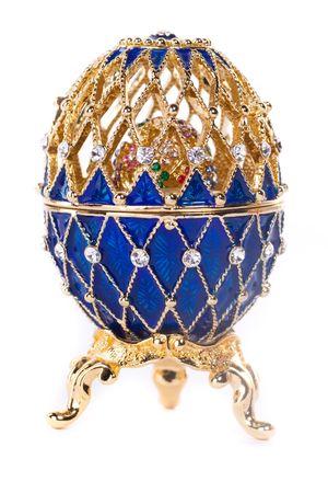 Faberge egg. Isolated on white. Stock Photo - 6833580