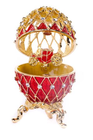Faberge egg. Isolated on white. Stock Photo - 6833553