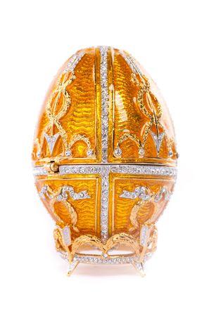 Faberge egg. Isolated on white. photo