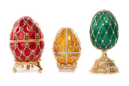 Faberge egg. Isolated on white. Stock Photo - 6833654