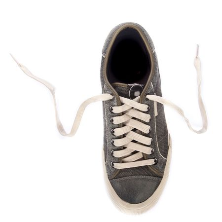 Sport shoes. Isolated on white. photo
