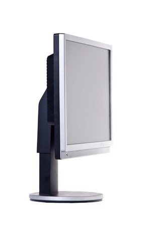 Computer monitor. Isolated on white. photo