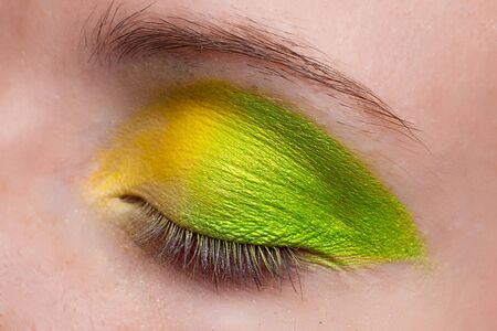 Woman eye. Closeup. Make up. Stock Photo - 7775649