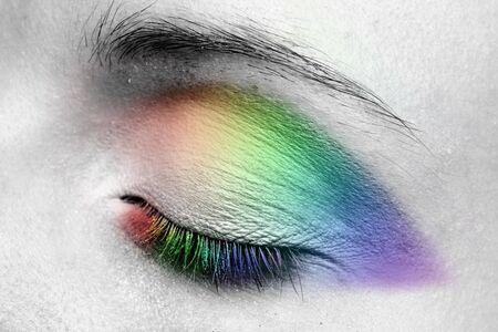 Woman eye. Closeup. Make up. Stock Photo - 7775500