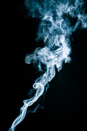 Tobacco smoke. On black background. Stock Photo - 7775340
