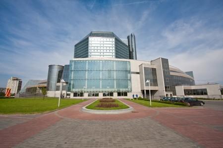 minsk: National library of Belarus in Minsk. Stock Photo
