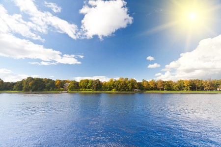 Panoramic landscape view and clear blue sky. Stock Photo - 8226939
