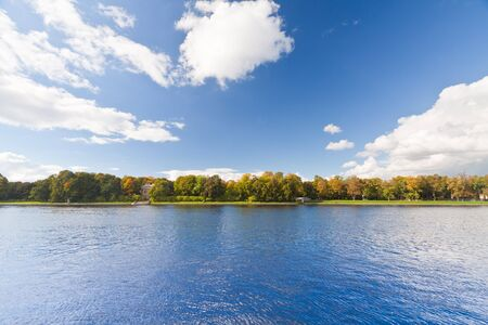 Panoramic landscape view and clear blue sky. Stock Photo - 8226938