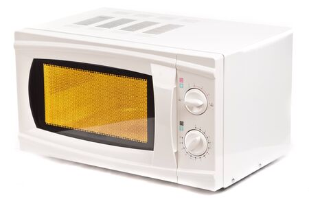 Microwave oven. Isolated on white. Stock Photo - 8226875