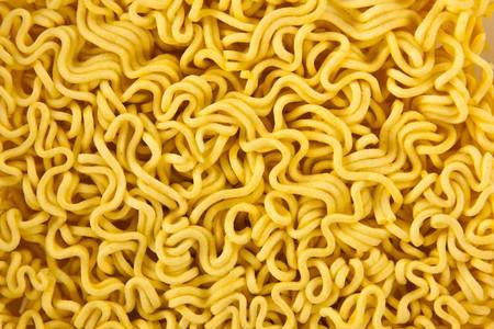 Instant noodles. Texture. Close up.