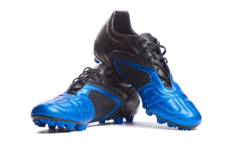 fűt�s: Footbal boots. Soccer boots. Isolated on white.