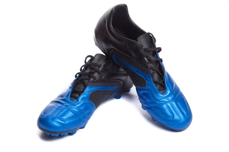 Footbal boots. Soccer boots. Isolated on white. Stock Photo - 8337491