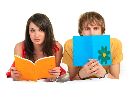 Two students. Closeup. Stock Photo - 10127912