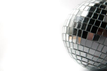 silver balls: disco ball Stock Photo
