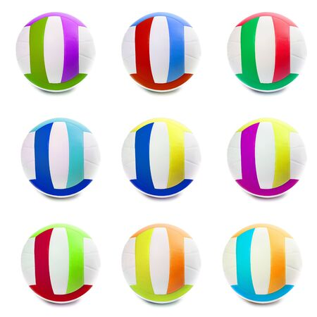 Colorful Sports Balls color in different countries photo