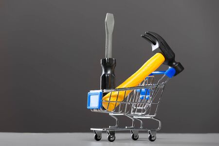 Shopping carts with a hammer. Stock Photo - 10386233
