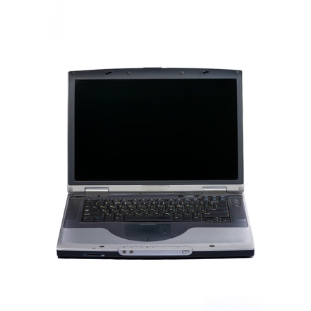 Gray laptop isolated on white. Stock Photo - 10386221
