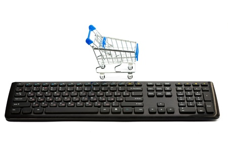 Keyboard and a shopping cart Stock Photo - 10386224