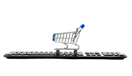 Keyboard and a shopping cart Stock Photo - 10386220