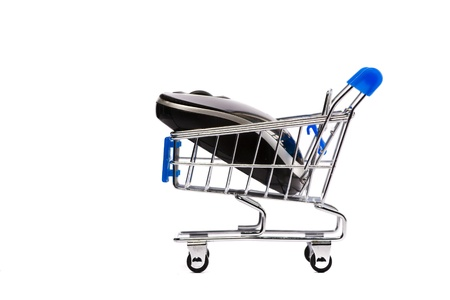 Computer mouse in shopping cart Stock Photo - 10386222