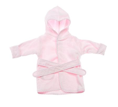 Pink bathrobe on a white background photo