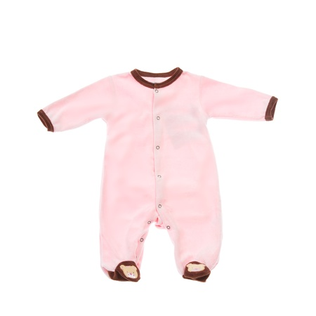 dry suit: Cotton baby sleeper isolated