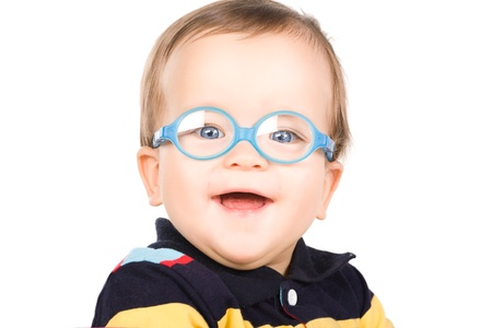 Child with glasses photo