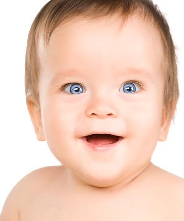 The blue-eyed baby, close-up. Stock Photo - 11207867