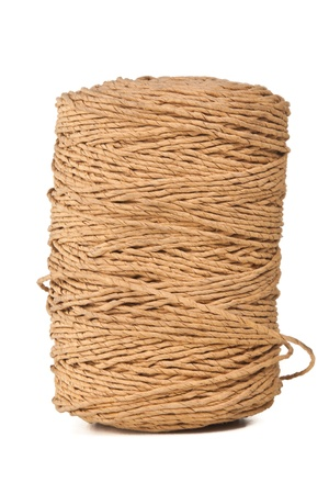 Rope coil isolated photo
