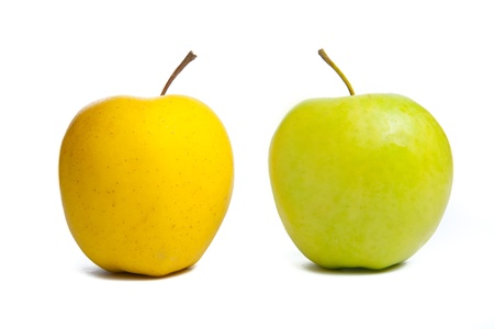 two apples. Studio shot. photo