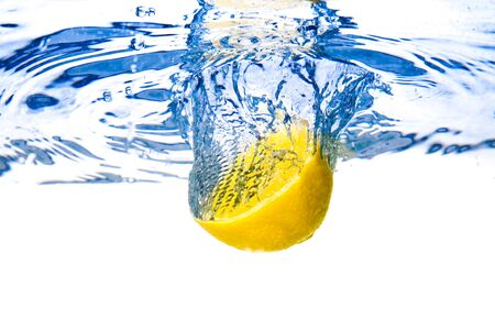 Lemon under water photo