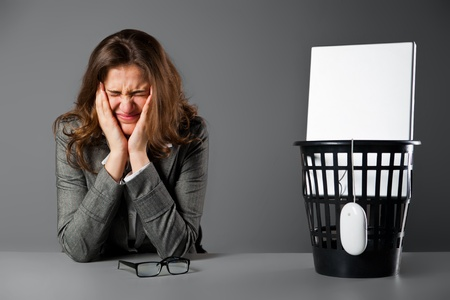Crying businesswoman. Stock Photo - 11230789