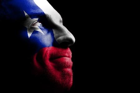 bandera de chile: Aficionado a los deportes - un patriota.