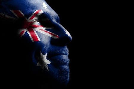 australian: Sports fan - a patriot. Stock Photo