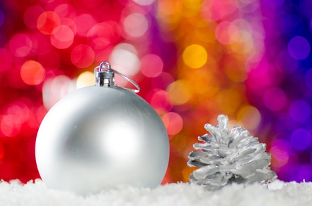 Christmas decorations in the snow. Stock Photo - 11763134