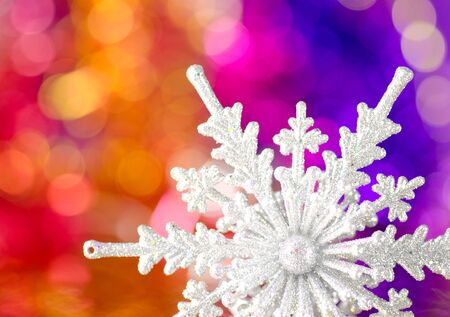 Christmas decorations on a colorful background. photo