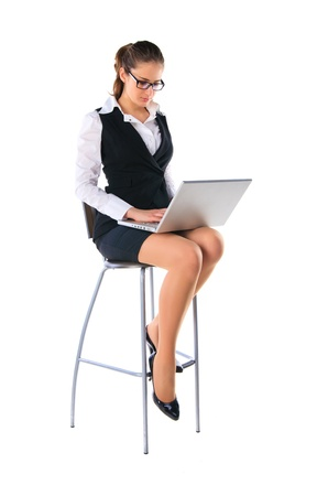 Business woman works on the laptop Stock Photo - 11889261