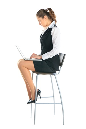 Business woman works on the laptop Stock Photo - 11889257