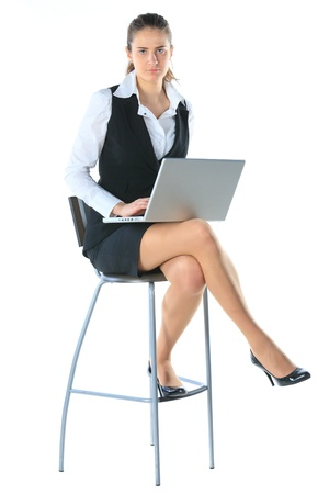 Business woman works on the laptop Stock Photo - 11889259