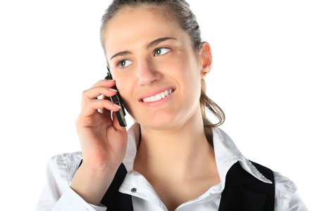 Businesswoman talking on mobile phone Stock Photo - 11889443