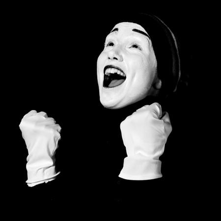 pantomime: Street mime.