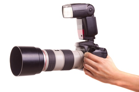 telezoom: Womens hands holding the camera.