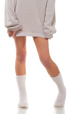 calcetines: Hermosas piernas femeninas. Foto de archivo