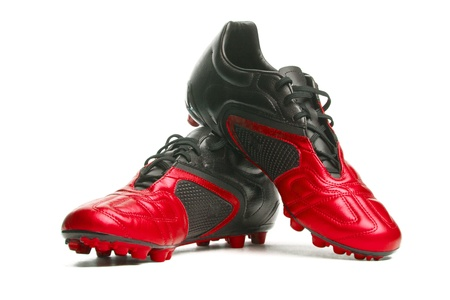 football boots: Footbal boots. Soccer boots. Stock Photo