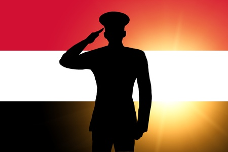 The Egyptian flag photo