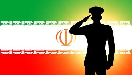 iranian: The Iranian flag Stock Photo
