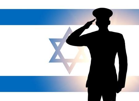 The Israeli flag Stock Photo - 12406960