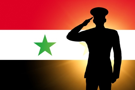 The Syria flag photo